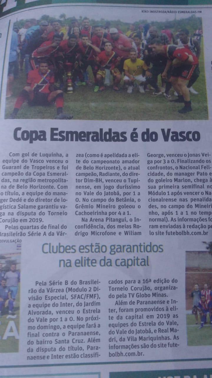 Na edição do SUPERNOTICIA de 22 05 2018 – Final em Esmeraldas com ajuda do  amigo Kiko Inostroza e Brasileirão da Várzea SERIES A e B (Modulos 1 e 2  Divisão ... 32e04210a26c3