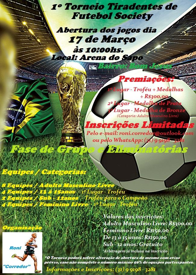 0c1a76ec44 1º Torneio de Futebol Society de Tiradentes